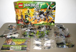 LEGO Ninjago Epic Dragon Battle 9450 ALL Ninja Minifigs Open Box