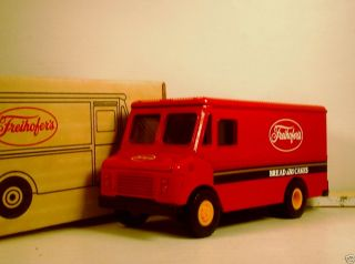 Ertl Red Step Van Delivery Bank Freihofers Bakery Die Cast
