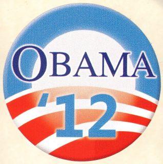 Bumper Sticker President Barack Obama 2012 3 Round Sticker Support 12