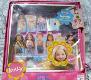 RARE Barbie KELLY 2003 Vinyl Doll Bag/Case for 12 Kelly Dolls, No