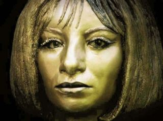 Barbra Streisand Bust from Life Mask Movie Sculpture