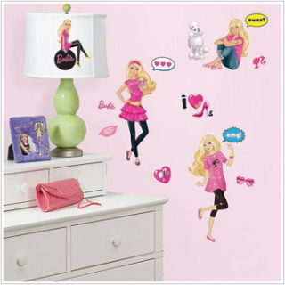 Barbie Doll 29 Big Wall Stickers Girls Room Decor Poodle Dog Logo