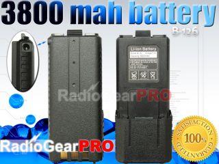 Battery 3800mAh for BAOFENG UV 5R WACCOM UV5R UV 5RB dual band radio