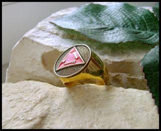 AJS © Order Arrow Vigil Boy Scouts Eagle 24K Ring D78G