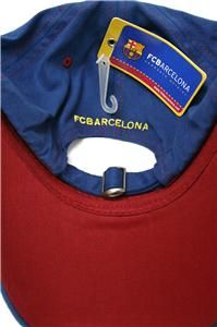Barcelona Barca Soccer Flex Fit Cap Hat Heavy Double Stitch Embroidery