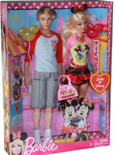 Barbie and Ken Barbie Loves Disney Doll Minnie Mouse Mickey Mouse NEW