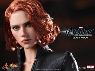 Hot Toys The Avengers 2012 Black Widow Scarlett Johansson New 1 6