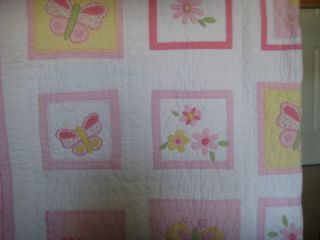 Pottery Barn Quilt   Butterfly & Flowers Pattern