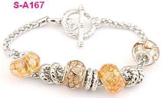Dragon Vein European Charm Beaded Bracelet s A167
