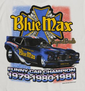 Vintage Drag Club T Shirts Raymond Beadle Blue Max Funny Car