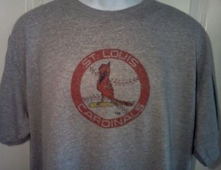 St Louis Cardinals 1970s Throwback MLB Baseball Logo Shirt XX Large