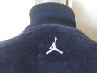 JORDAN Black Velour Mens Warm Up Work Out Basketball Jacket L EXLNT NR