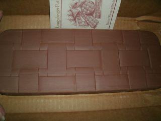 NEW Boxed Longaberger Bread Basket Pottery Brick   Nice Gift