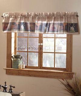 Shower Window Valance Country House Home Sweet Home Bath Decor