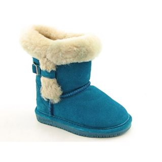 Bearpaw Halle Youth Kids Girls Size 12 Blue Regular Suede Snow Boots
