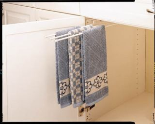 Pullout Towel Holder for Kitchen Bath Cabinet Storage