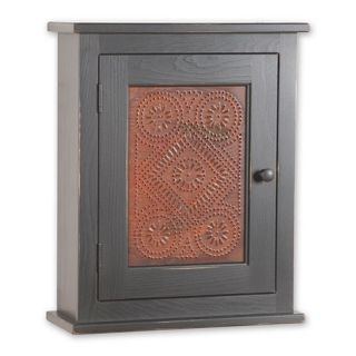 Cabinet Country Primitive Colonial Bath Wood Wall Cupboard