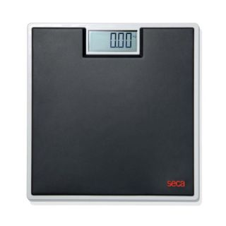 803 Clara Electronic Flat Bathroom Scale with Large LCD Numbers Black