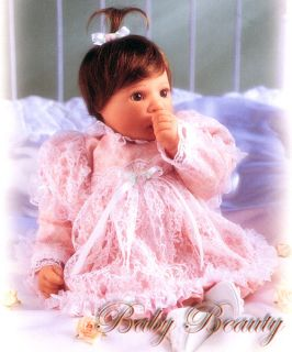 Baby Beauty Newborn Lace Dress Gown Lee Middleton Doll Clothing New