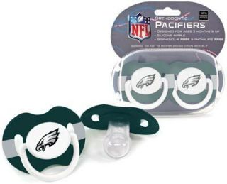 Eagles Pacifiers 2 Pack Set Infant Baby Fanatic BPA Free NFL