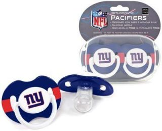 Giants Pacifiers 2 Pack Set Infant Baby Fanatic BPA Free NFL