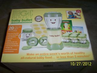 MAGIC BABY BULLET FOOD MAKING SYSTEM As Seen On TV hardly used for