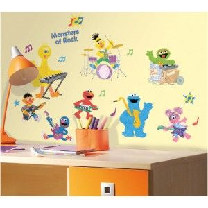 Street Rock Roll Wall Decals Kids Baby Nursery Stickers Decor