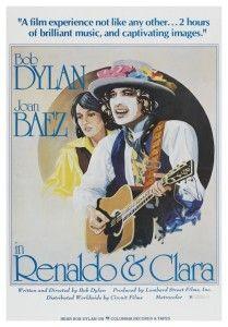 Bob Dylan POSTER Joan Baez   Renaldo & Clara   AMAZING ARTWORK