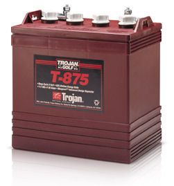 Trojan 8 Volt T 875 Golf Cart Batteries 6 Batteries