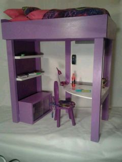 Loft bed and accessories FITS American Girl Doll McKenna and other 18