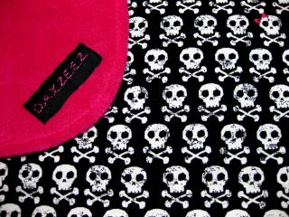 Girl Baby Kid Cross Pink Skull Bones Bedding Blanket Crib Stroller