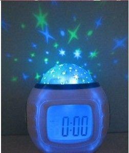 Room Sky Stars Night Lights Projector Lamp Bedroom Music Alarm Clock 2