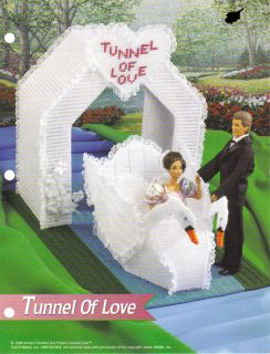BARBIE KEN FASHION DOLL FD SWAN TUNNEL OF LOVE plastic canvas pattern