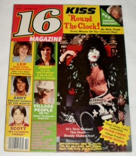 16 Magazine October 1979 KISS Bay City Rollers Rex Smith Cheap Trick w