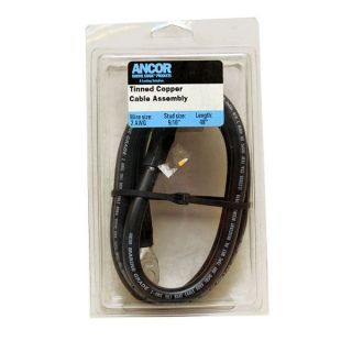 ANCOR 189146 4 FT 2 AWG BOAT BATTERY CABLE ASSEMBLY