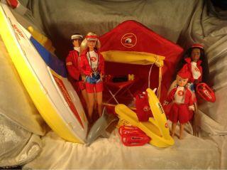 Baywatch Everything ~ Dolls, Boat, Tent, Jet ski, Dolphin