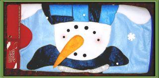 Belk Dlx 52 Christmas Tree Skirt Snowman Orig $70