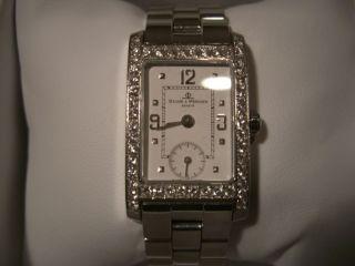 Baume Mercier Geneve Womens Diamond Watch Used