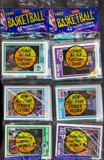 1989 90 Fleer Basketball Set 12 Rack Pack ~ Wax Box TWO Michael Jordan