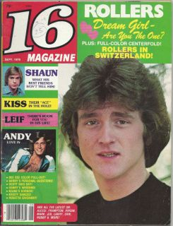 16 Magazine Sept 78 Bay City Rollers Kiss Shaun Leif