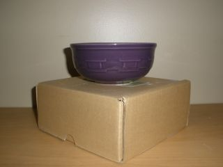LONGABERGER BASKETS POTTERY SMALL LOW BOWL EGGPLANT NEW IN BOX