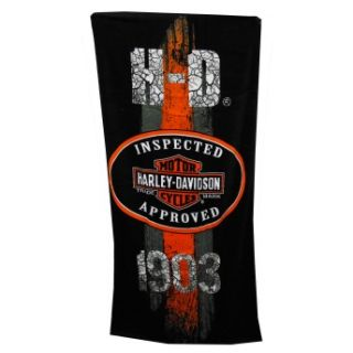 Harley Davidson 1903 Motorcycles Distressed Logo Adult Beach Towel