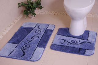 Rubber Bathroom Rug Pedestal Toilet Sink Bath Mat Small Large