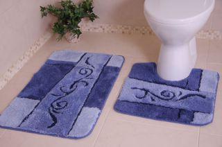 Rubber Bathroom Rug Pedestal Toilet Sink Bath Mat Small Large