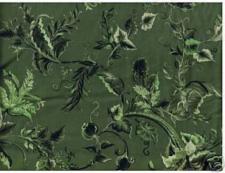 Fabric Donna Dewberry Belle Meade Small Vine Sage Green Cotton