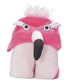 Flamingo Hooded Bath Towel Kids Cotton New 27 x 54