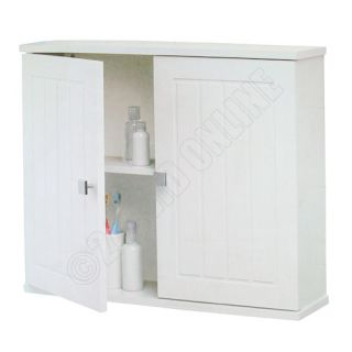 Mounted Tongue Groove Bathroom Cabinet 2 Shelf Storage Unit