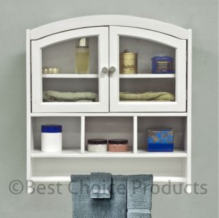 Bathroom on Bathroom Cabinet White Arch Top Bath Wall Mount Storage Cabinet Solid