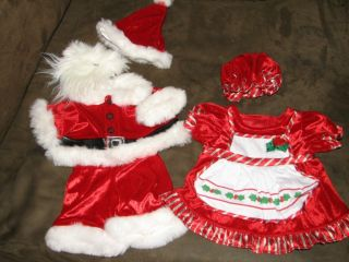 Build A Bear Workshop Clothes  Christmas  Santa and Mrs Claus