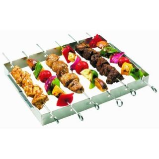 Stainless Steel Kabob Set BBQ Grill Outdoor Cooking Tools Accessories
